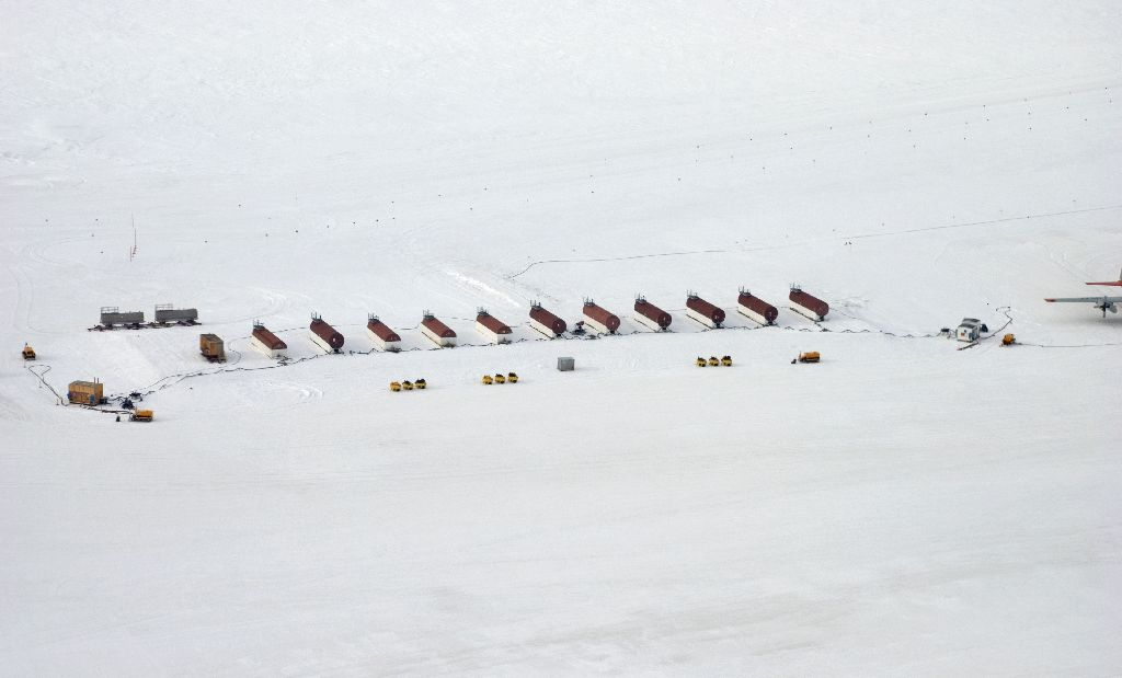 Pegasus Airfield fuel tanks. (Photographer unknown)