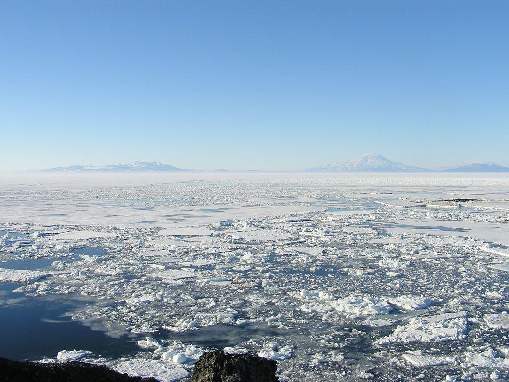 Loose sea ice.