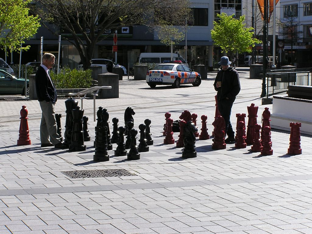 Chess in Downtown Christchurch.