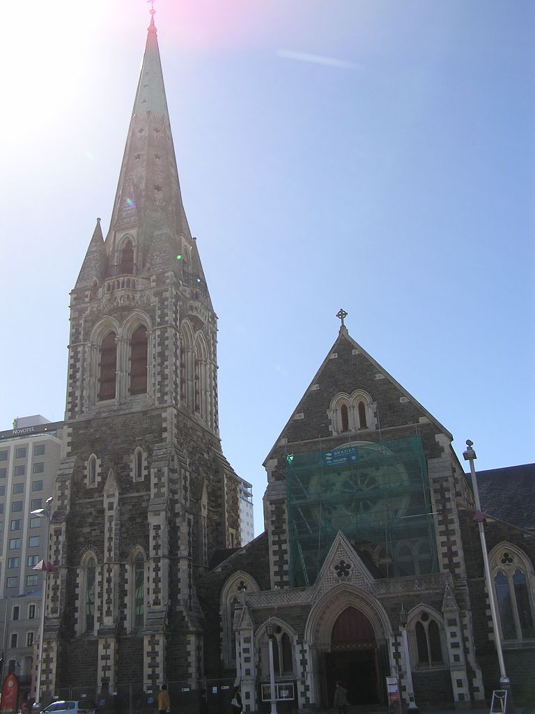 Church in Downtown Christchurch.