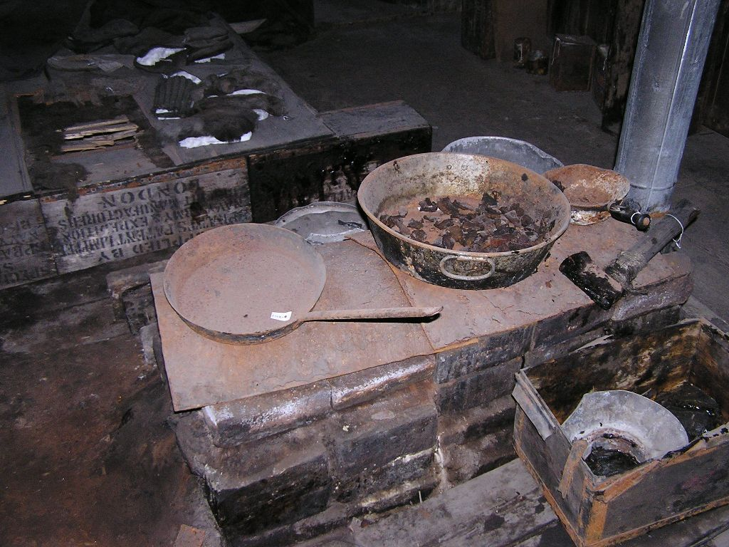 Food on the stove, probably from Shackleton's Aurora Expedition 1915-1917.