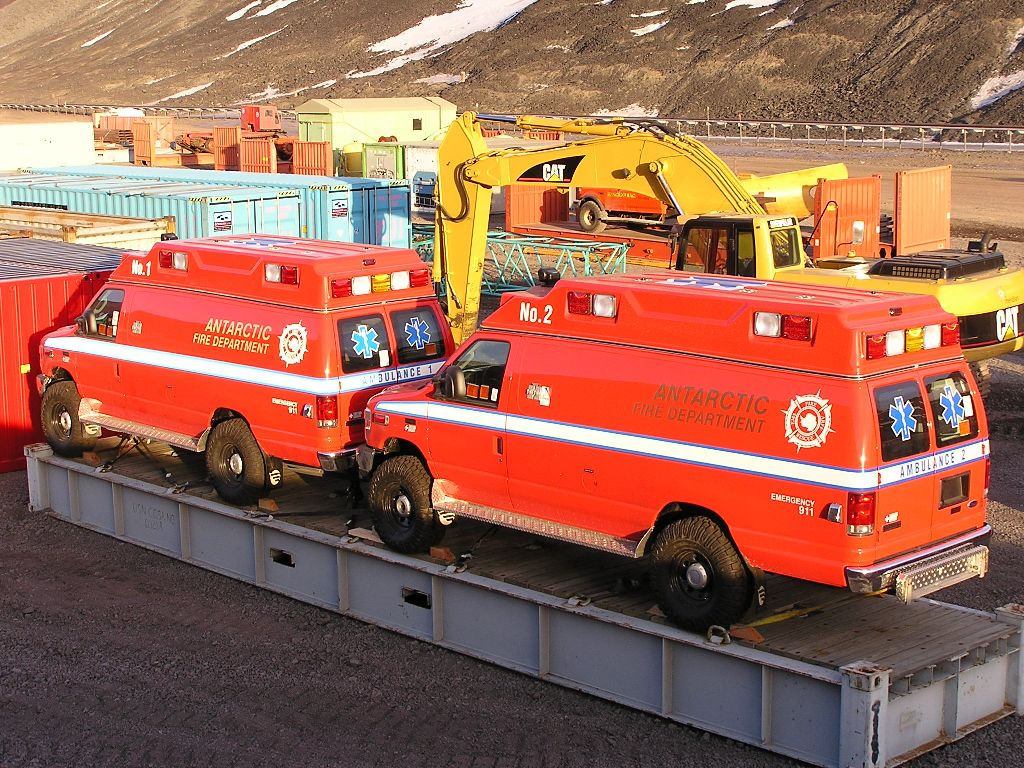 New ambulances for McMurdo Station.